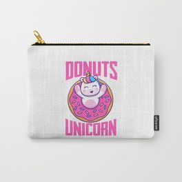 Unicorn And Donuts Carry-All Pouch