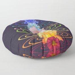 Chakra Flowers Floor Pillow