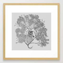Mistletoe Stag Framed Art Print