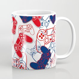 Video Games Red White & Blue 3 Coffee Mug