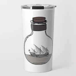 Antique Ship in a Bottle Travel Mug