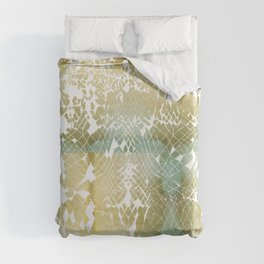 Fractured Gold Duvet Cover