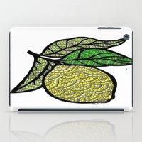 lemon iPad Cases featuring Lemon  by Kris LeGates