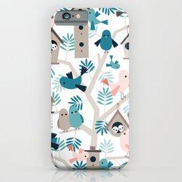 Bird family tree iPhone Case