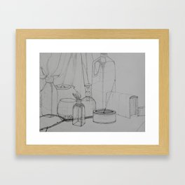 A Study in Lines Framed Art Print