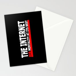 THE INTERNET - MOB MENTALITY AT ITS BEST Stationery Cards