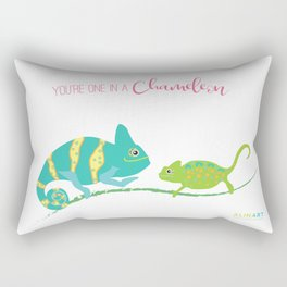 You're One in A Chameleon Rectangular Pillow