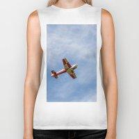 airplane Biker Tanks featuring Airplane by Fernando Derkoski