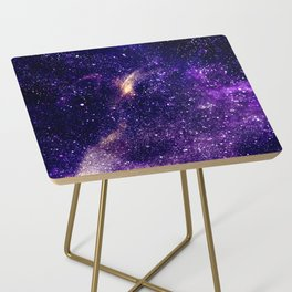 Ultra violet purple abstract galaxy Side Table