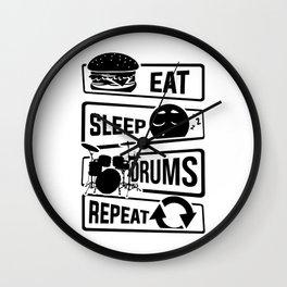 Eat Sleep Drums Repeat - Drummer Music Instrument Wall Clock