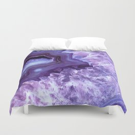 Purple Lavender Quartz Crystal Duvet Cover