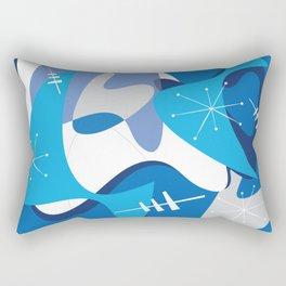 Blue Bam Boom Rectangular Pillow