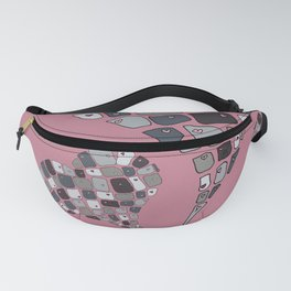 Heart Connection on rose pink Fanny Pack