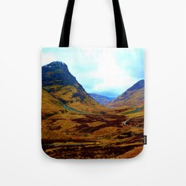 Glencoe, Scottish Highlands, in the Autumn Tote Bag
