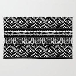 African Tribal Mudcloth // Black Rug