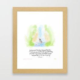 "Yogi Ant bath-""Gentle self talk"" Framed Art Print"