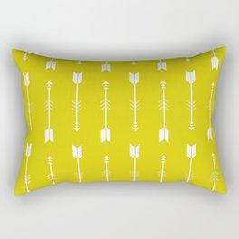 Yellow & White Arrows  Rectangular Pillow