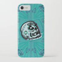 sarcasm iPhone & iPod Cases featuring Sarcasm skull on pillow by NENE W