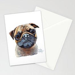 I AM A PUG by Shirley MacArthur Stationery Cards