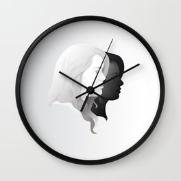 Lydia and Allison in Profile Wall Clock