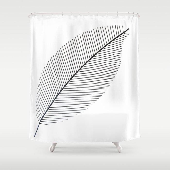 Leaf minimalism decor | black and white minimalism | Magnolia inspired designs Shower Curtain