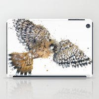 british iPad Cases featuring British Kestrel by Jess Stewart-Croker