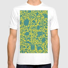 Synapses MEDIUM Mens Fitted Tee White