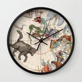 Vintage Star Atlas - Constellation Map Wall Clock