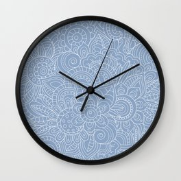 Background abstract flowers, doodleart, graphic-desing vector pattern. Wall Clock