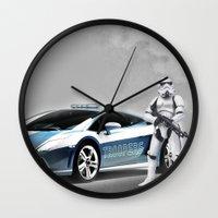 lamborghini Wall Clocks featuring Lamborghini Troopers by Vin Zzep