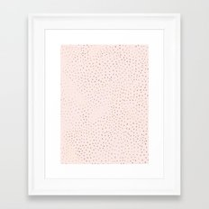 Dotted Gold & Pink Framed Art Print