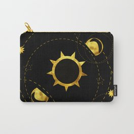 Solar Eclipse black Carry-All Pouch