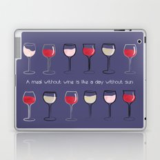 A meal without wine is like a day without sun Laptop & iPad Skin
