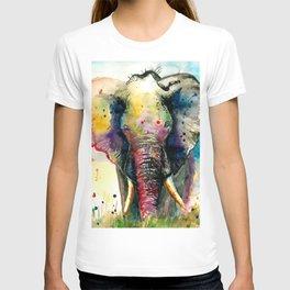 RAINBOW ELEPHANT WATERCOLOR T-shirt