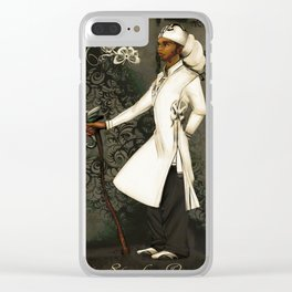 In His Headwrap Clear iPhone Case