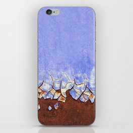 Rust and Blue iPhone Skin