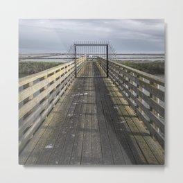 Delta - Gate Metal Print