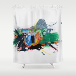 Accident three Shower Curtain