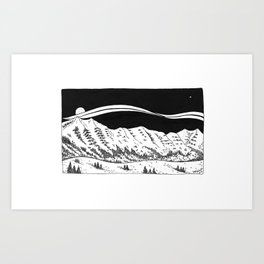 Bridger Mountains Art Print
