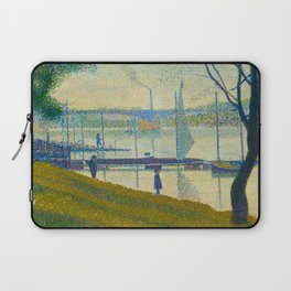 Bridge at Courbevoie Georges Seurat - 1886-1887 Impressionism Modern Pointillism Oil painting Laptop Sleeve