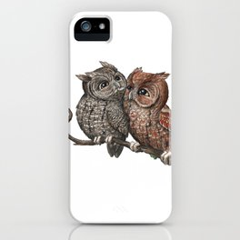Eastern Screech Owl (Megascops asio) iPhone Case