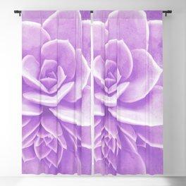 Purple Succulent Reflection Blackout Curtain