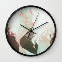 loish Wall Clocks featuring milk by loish