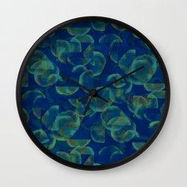 Underwater Glitch Wall Clock