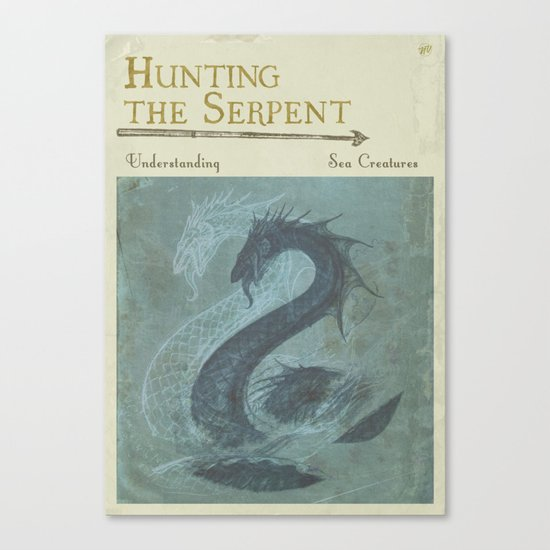 Book Cover Art Canvas ~ Hunting the serpent book cover canvas print by new void