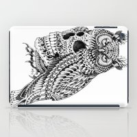 bioworkz iPad Cases featuring Great Horned Skull by BIOWORKZ