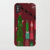 xmas iPhone & iPod Cases featuring Xmas by JuniqueStudio