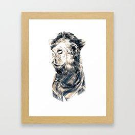 Saudi camel Framed Art Print
