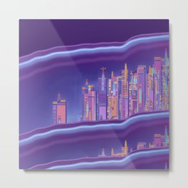 Saturnian Ultraviolet Wave Two Metal Print