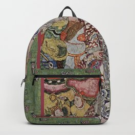 The Woman Who Stepped out of The Picture by Gustav Klimt Backpack